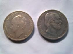 Koin Gulden 2,5 Asli Sepasang