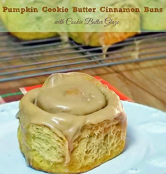 Pumpkin Cookie Butter Cinnamon Buns by Grumpy's HoneyBunch