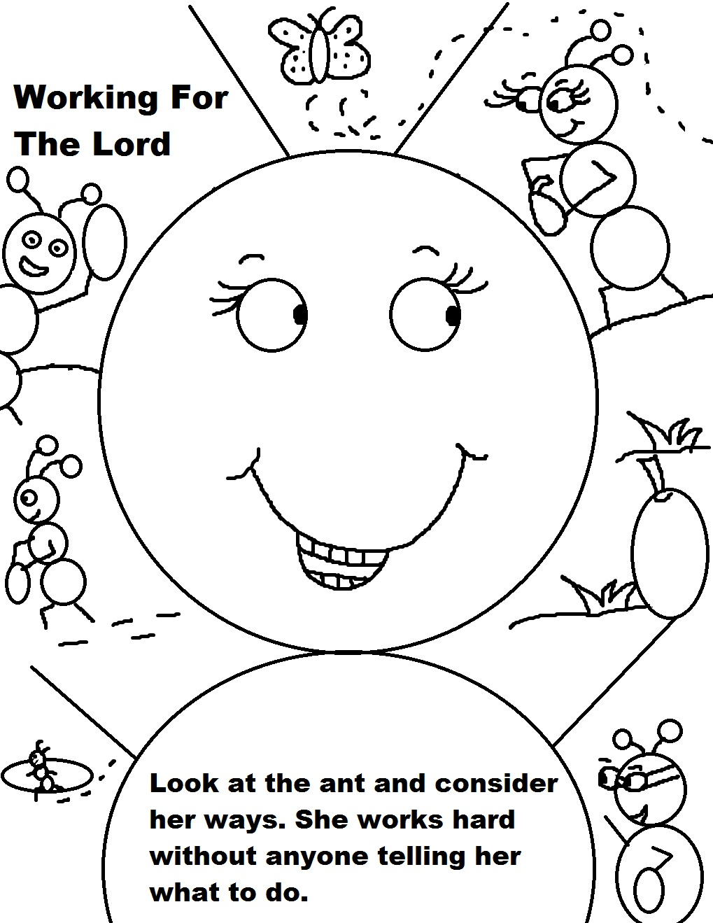 Creation Coloring Page