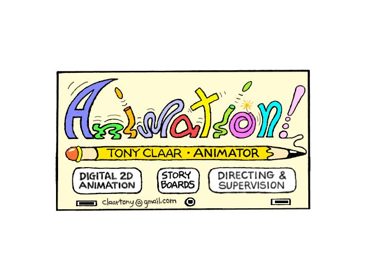 Tonystoons for Animation business cards
