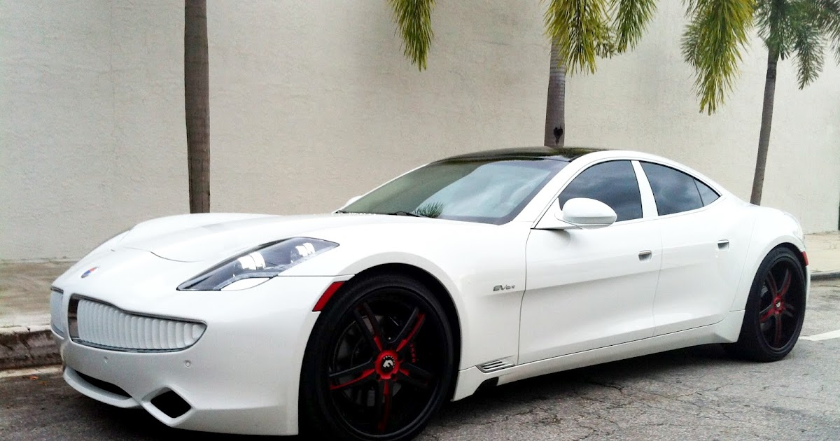 Exotic Cars on the Streets of Miami: White Fisker Karma ...