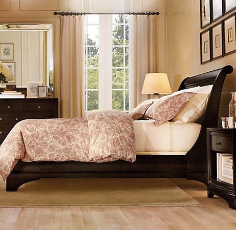 restoration hardware portman sleigh bed 3