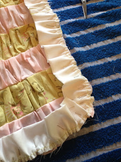 Pin ruffle along edges