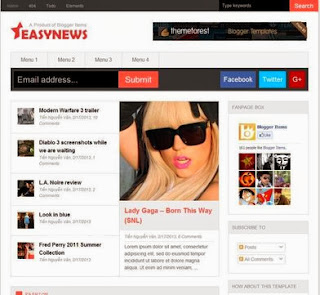 Easy News - Free News Blogger Template