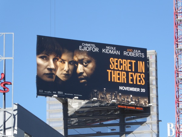 Secret in their Eyes movie remake billboard