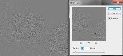 photoshop cs6 : high pass filter tool