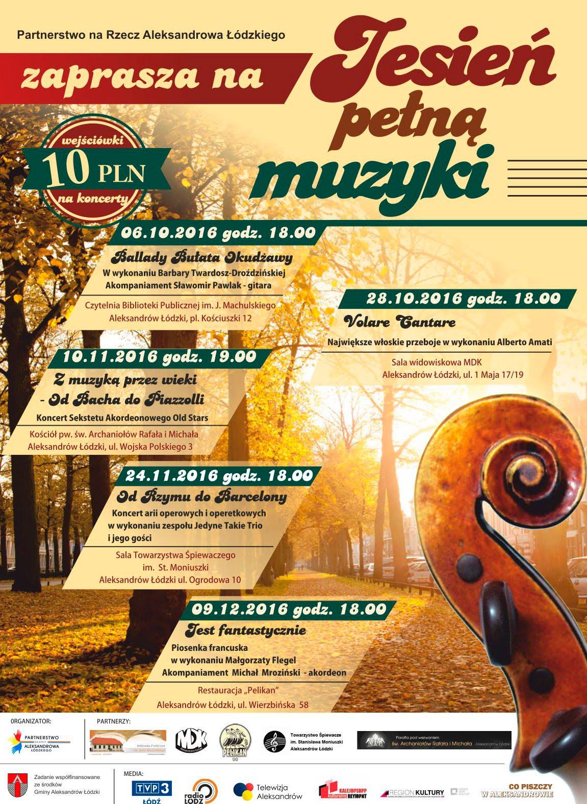 Jesień pełna muzyki 2016