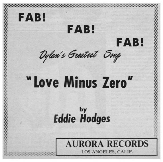 Eddie Hodges - Love Minus Zero