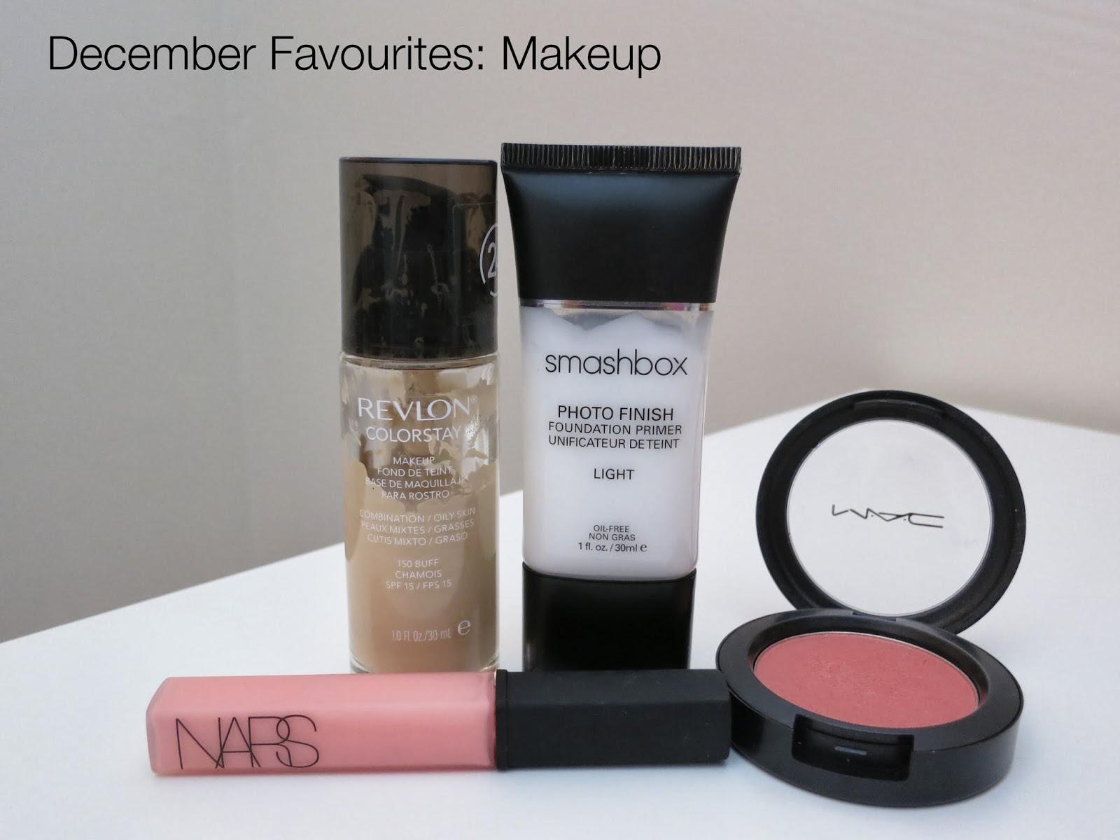 december beauty favourites, yearly beauty favourites, 2013 beauty favourites, revlon colorstay, mac blush, smashbox primer, nars lipgloss