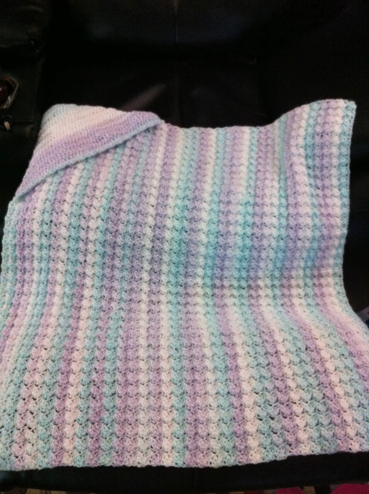 Free Crochet Patterns For Baby Blanket With Hood : Not My Nanas Crochet!: Crochet Hooded Baby Blanket - Free ...