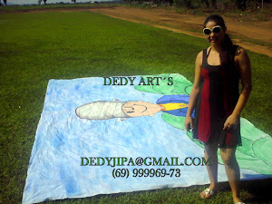 Painéis pintados a mão no tecido, 5 mt