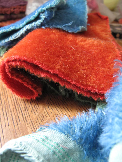 hand dyed german mohair