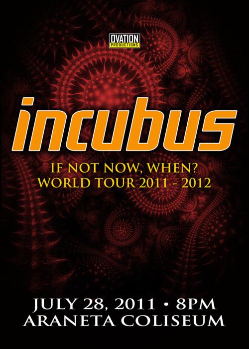 Aranate Coliseum, icubus, Incubus Live Concert in Manila  2011, poster, image, billboard, photo, pic