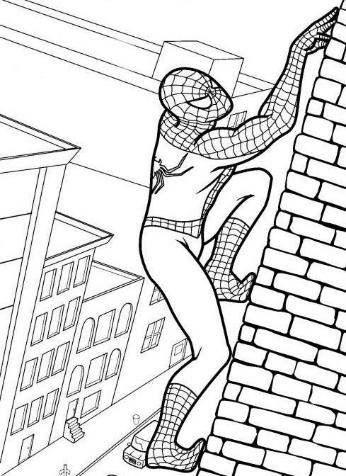 desenho para colorir do homem aranha