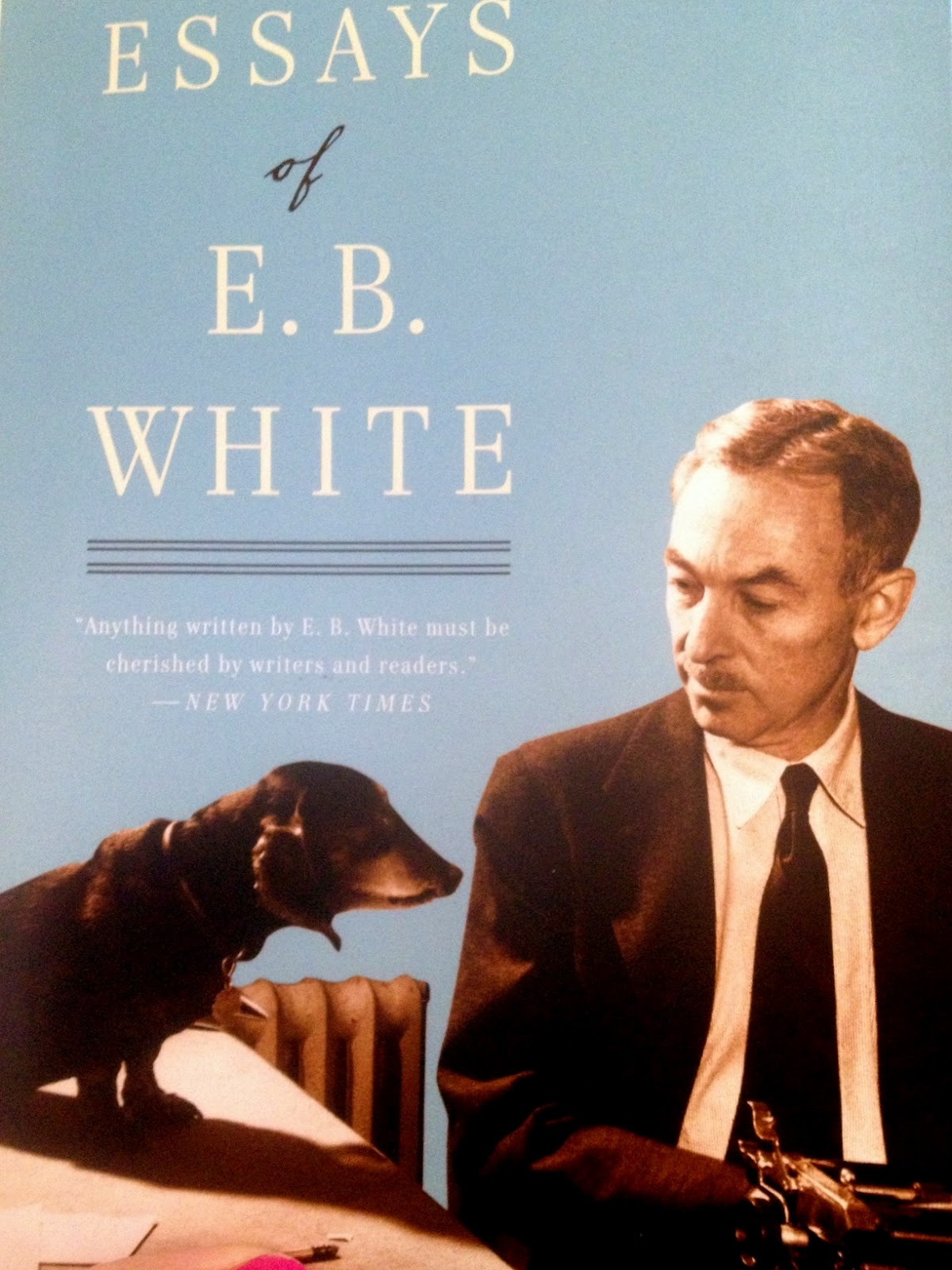 eb white essay essays of e b white by e b white paperback barnes be still a minute wiener wednesday e b whitehere he is one of his dachshunds on the