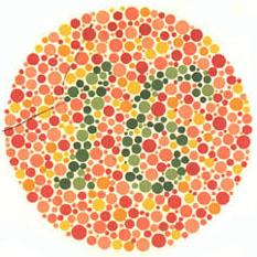 Prueba de daltonismo - Carta de Ishihara 16