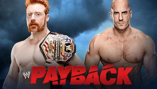 sheamus mano a mano enfrenta a Cesaro en el gran show de PPV online Payback