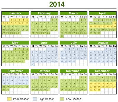 Berikut ini adalah Perincian Penanggalan Kalender 2014 Terbaru :
