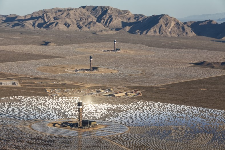 mojave solar project Destructive ivanpah solar project to finally this image of the ivanpah solar project taken from miles away in the mojave national preserve during initial.
