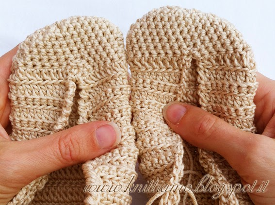 schema per scarpe all'uncinetto