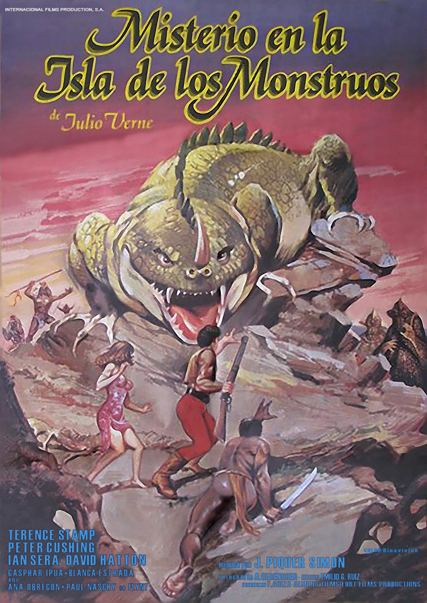 Misterio en la isla de los monstruos, Peter Cushing, Terence Stamp, Ian Sera, Juan Piquer Simon