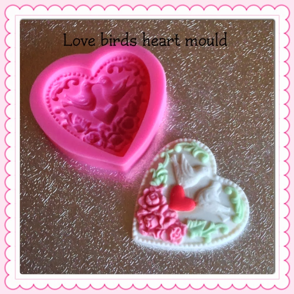 lovebirds heart mould
