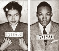 Rosa Parks & Martin Luther King Booking Photos Montgomery Bus Boycott