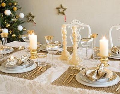 El blog de malules como poner una bonita mesa en navidad - Manteles mesas grandes ...