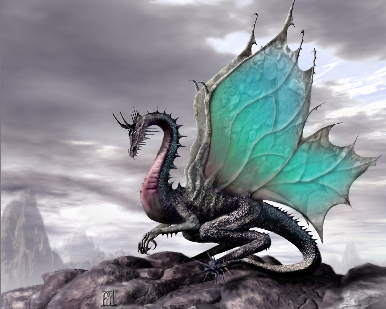 Dragon Wallpaper - Another Myth Creatures ice dragons blue dragons