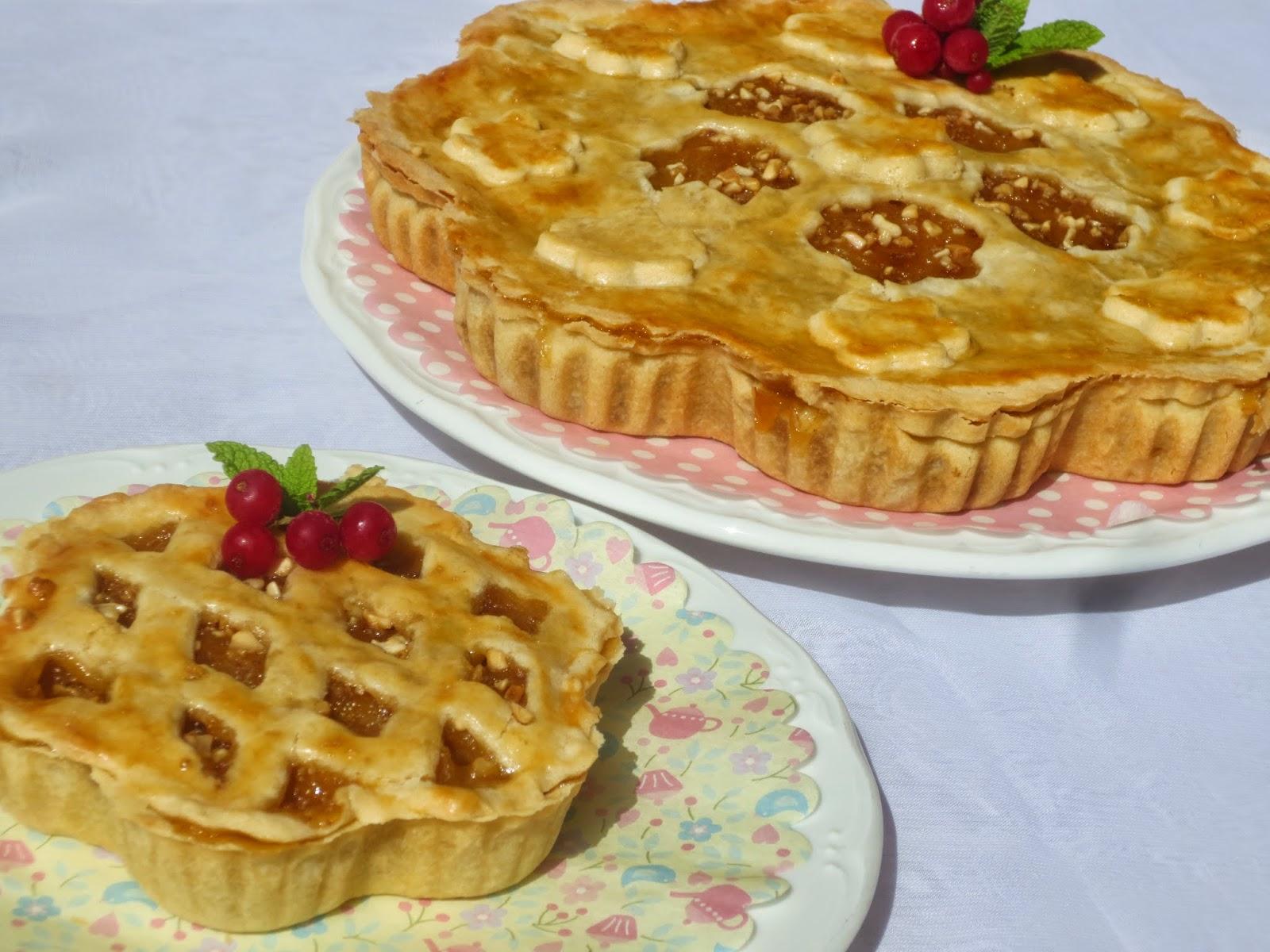 Pie o pastel de compota de manzana y cabello de ángel Ana Sevilla con Thermomix