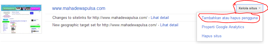 laman google webmaster tool