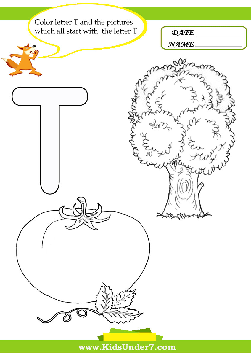 t coloring pages preschool - photo #40