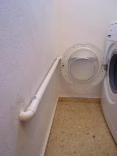 Caballito de cart n desplazar el desag e de la lavadora for Como desatascar un desague
