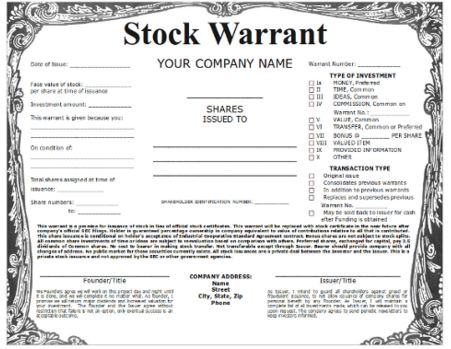 Stock options warrants differences