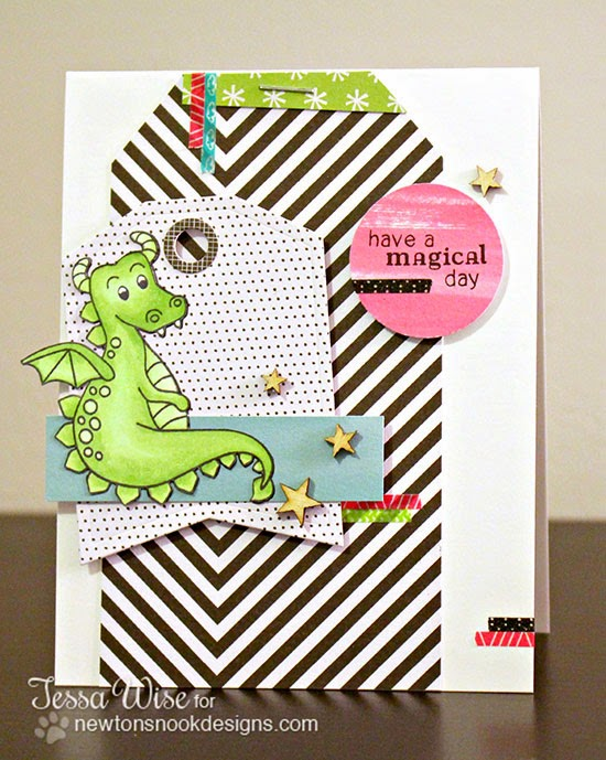 Dragon card by Tessa Wise for Newton's Nook Designs Inky Paws Challenge 7