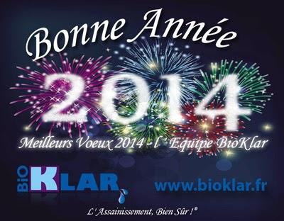 Micro station d'épuration BioKlar ULTRA souhaites Bonne Année et Meilleurs Vœux pour 2014!