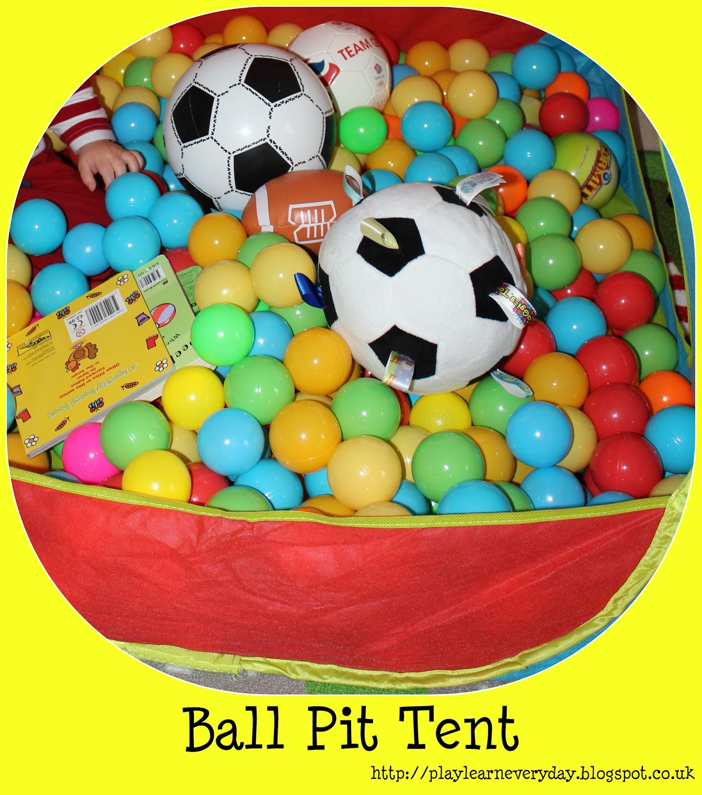 & Ball Pit Tent - Play and Learn Every Day