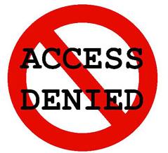 Access denied, Cách chặn trang web đơn giản trên máy tính