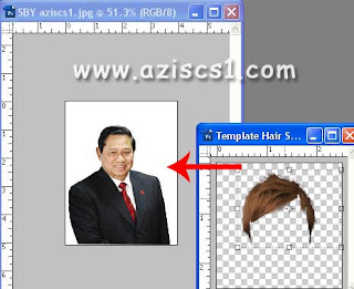 Cara Mudah Gonta-Ganti Rambut Di Photoshop