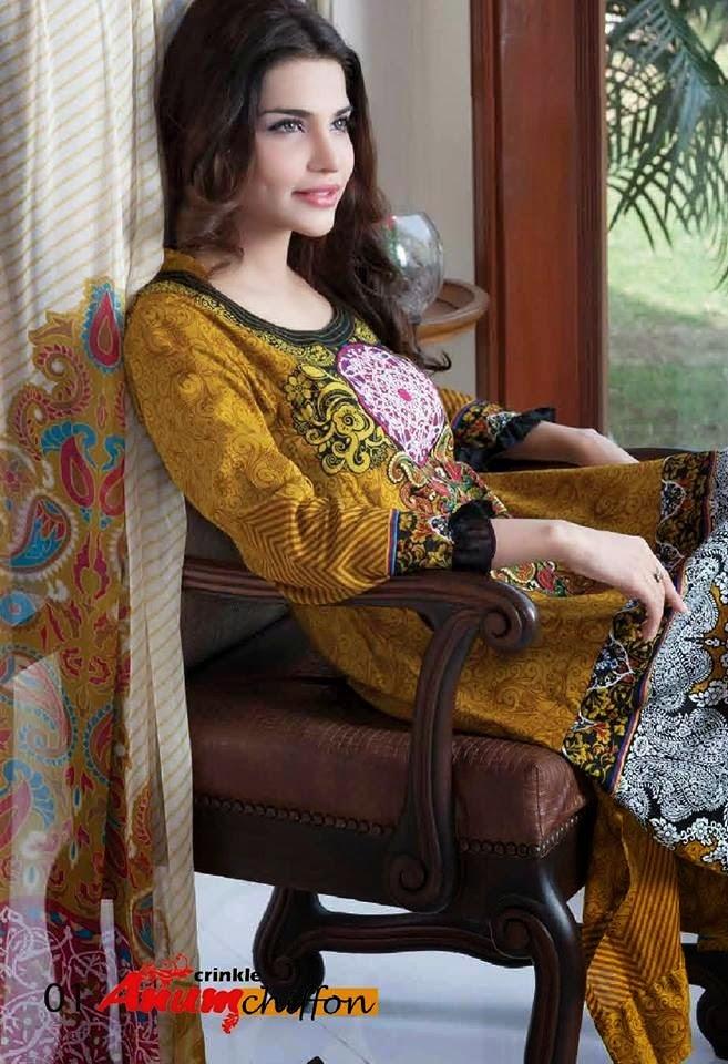 Al ZohaibTextileAnumChiffonCollection2014 wwwfashionhuntworldblogspotcom 20 - Anum Chiffon Collection 2014 By Al-Zohaib Textile
