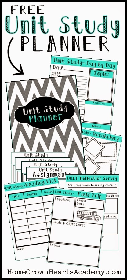 FREE Unit Study Planner