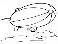 Mewarnai Gambar Balon Udara
