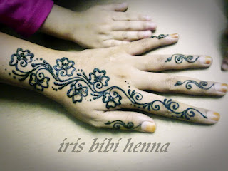 inai pengantin (ukiran henna) dan make up: ukiran inai simple