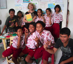 Sharing THE  POETRY FRIDAY ANTHOLOGY with kids in Bali!