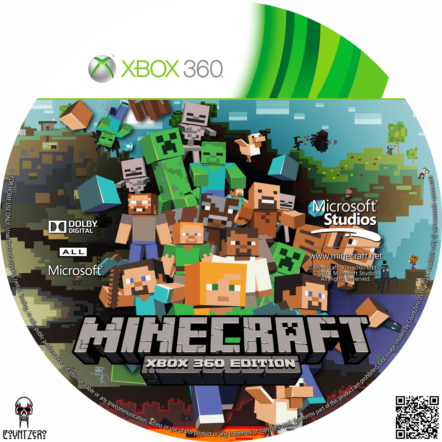 Amazing photo of  Baixar de capas DVD e Bluray: Label Minecraft Xbox 360 Edition with #A46027 color and 1417x1417 pixels