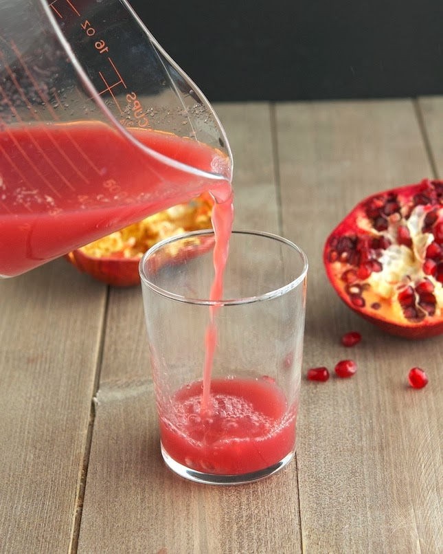 several times to use a regular juicer to make pomegranate juice ...