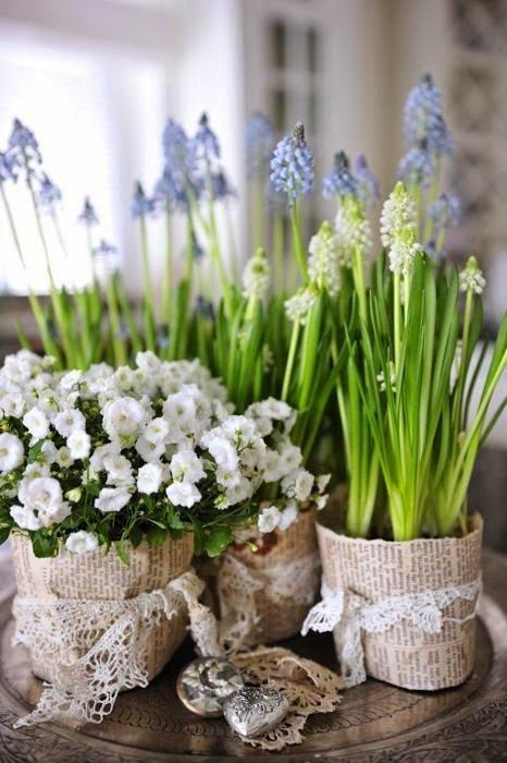 spring decoration, basket, flowers, entrance, garden, balcony, vases, jars, crate, table, sofa, cushion, balcony,garden, interior, exterior,