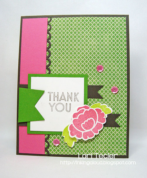 Springtime Thank You-designed by Lori Tecler/Inking Aloud-stamps and dies from Clear and Simple Stamps