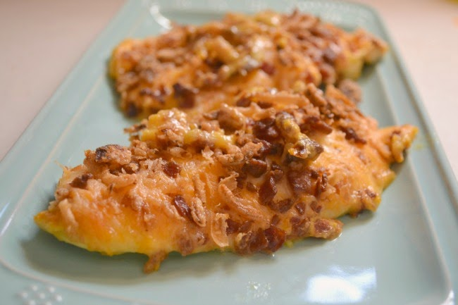 Covered Chicken Breasts -- A quick dinner. Chicken breasts smothered ...