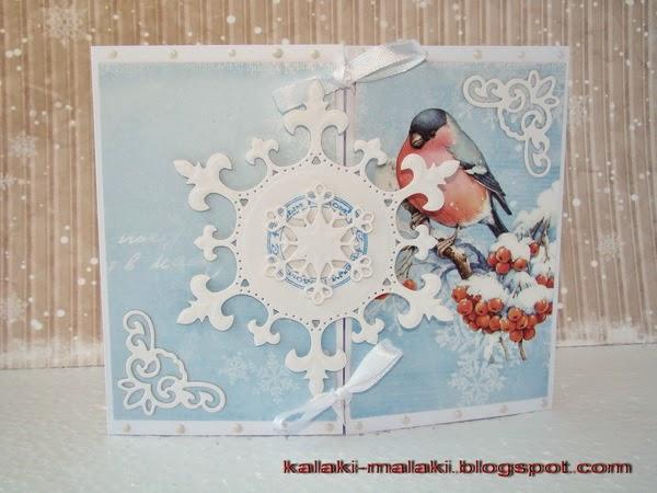 новогодняя открытка hand-made купить Донецк